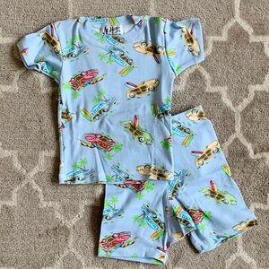 NWT At Home short sleeve/shorts pajama set 'cars'